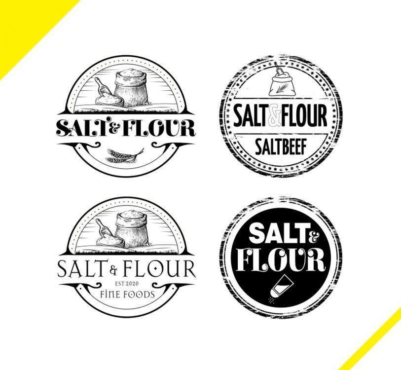 Salt and Flour logos